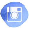 Blue Watercolour Social Media Icons - Instagram